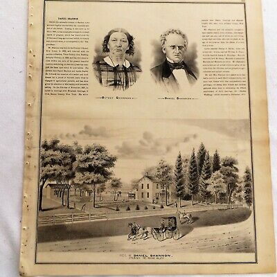 1876 NY Starkey Rockstream Farms and Residences Print frm Atlas