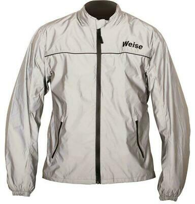 Weise Vision Waterproof Motorbike Motorcycle Textile Over Jacket - Silver