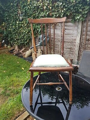 Antique Edwardian Bedroom Chair, Good Condition.
