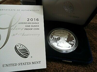 2016 W American Silver Eagle Proof OGP
