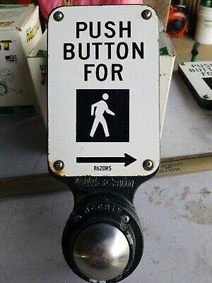McCain  pedestrian crosswalk traffic signal light push button