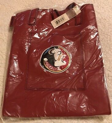 finest selection fd0c4 31212 Florida State Seminoles FSU~Tote   Hand Bag by ALAN STUART RED Faux Leather  BIN