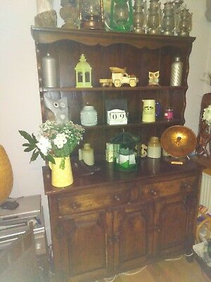 Antique Solid Oak Dresser/ Sideboard Plate Rack  English Oak Country House