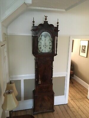 8 day antique long case clock