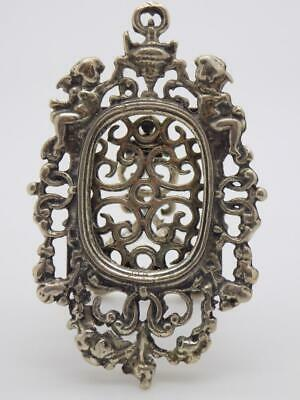 Vintage Solid Silver Italian Made Decorated Usable Mini Frame, Hallmarked*