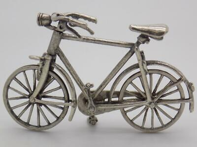 Vintage Solid Silver Italian Made Large Sport Bicycle Miniature, Hallmarked