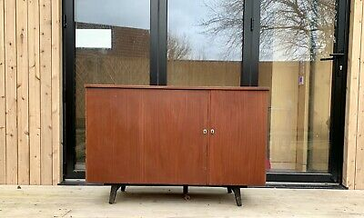 Mid Century Retro Teak Metamorphic Fold Out Desk - Compact With Lots Of Storage