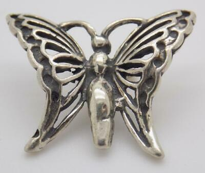 Vintage Solid Silver Italian Made Butterfly Miniature, Figurine, Stamped