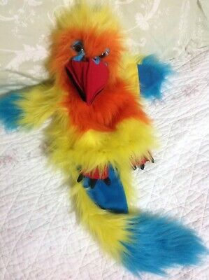 The Puppet Company Large Squawking Parrot Hand Puppet Very Good Condition