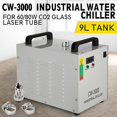 Cw-3000 Industrial Water Chiller Co2 Glass Laser Cold Storage Engraving Machine