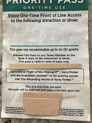 Universal Studios Hollywood Priority Pass