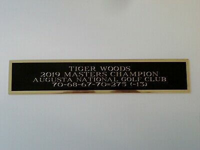 Tiger Woods 2019 Masters Nameplate For A Golf Flag Case Or Scorecard 1.5 X 6