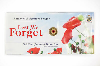 2012 Red Poppy $2 Coin on an RSL card