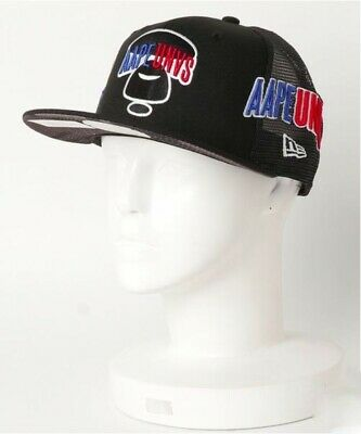 00e02fdea9fc1 A BATHING APE AAPE × NEW ERA 9FIFTY Snapback Mesh Cap UNVS BAPE NIGO Japan