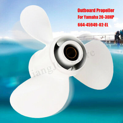 9 7/8 x 13 Boat Ship Alloy Outboard Propeller For Yamaha 20-30HP 664-45949-02-EL