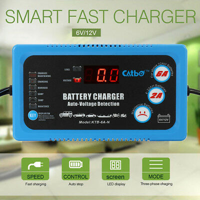 Automatic Intelligent Pulse Repair Type 220V 6V/12V 120AH Car Battery Charger A