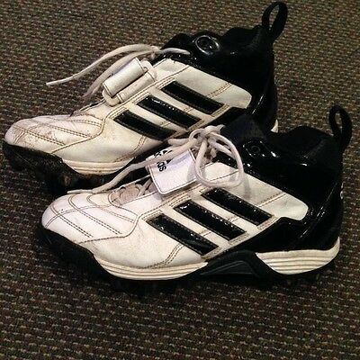 White Men's Adidas LAX Lacrosse  Cleats Size 7 1/2  FTY No. CLU 600001