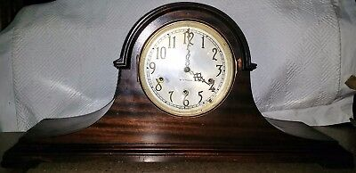 SETH THOMAS Mantel Clock No.124 Westminster Chimes 8 Day Antique Mantle Chime 92