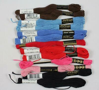 J&P Coats & DMC Vintage Embroidery Floss Mouline Lot of 13 Skeins