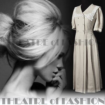 DRESS  LACE 40s 30s WEDDING VINTAGE LAURA ASHLEY 14 16 GATSBY VICTORIAN 50s VAMP