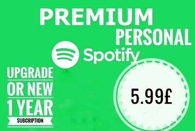 Spotify Premium 1 YEAR SUBSCRIPTION| NEW OR UPGRADE PERSONAL