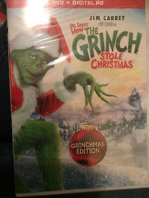 Dr. Seuss' How The Grinch Stole Christmas (DVD, 2017, Digital HD) NEW