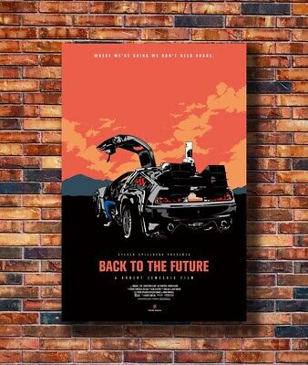 Back To The Future De Lorean DMC Silk Art Poster C-273 21 36x24 40x27
