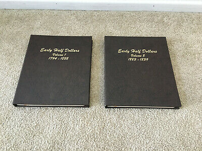 Dansco Early Half Dollars Coin Albums Complete Volumes 1 & 2 Nice Condition
