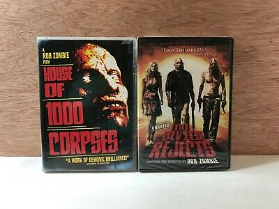 Rob Zombie 2 DVD's: House of 1000 Corpses / The Devil's Rejects (New)