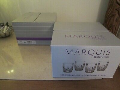Marquis by Waterford Brookside Double Old Fashioned DOF Set of 4 151681