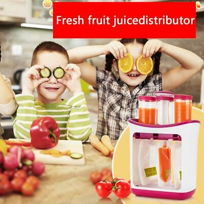 Fresh Squeezed Squeeze Station Baby Food Maker Storage Feeding Pouches*