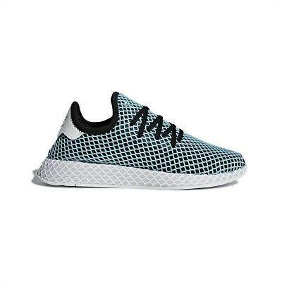 timeless design 26a41 99424 New Adidas Deerupt Runner Parley Men Black Blue White Fashion Shoes  Trainers NIB