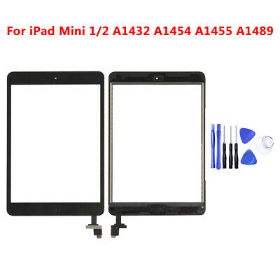 For iPad Mini 1 2 Touch Screen Glass Digitizer Replacement+ IC+Home Button