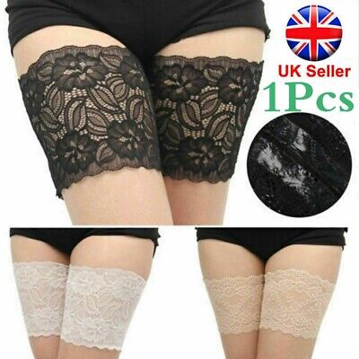 Non Slip Lace Elastic Sock Anti-Chafing Thigh Bands Prevent Thigh Chafing SockUK