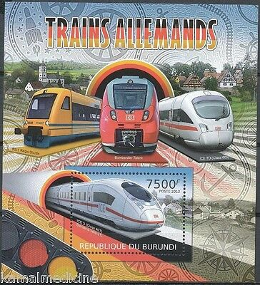 BURUNDI 2012 MNH SS, Railways, Bullet Trains (T1n)