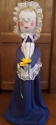 Royal Blue Maid  VACUUM CLEANER COVER..HIDE THAT HOOVER.. FITS upright hoovers