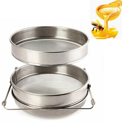 Honey Strainer Double Sieve Stainless Steel Beekeeping Equipment Filter Safe