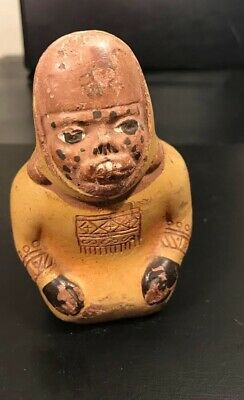 Rare piece of pottery, an ancient figure, apparently primitive, Latin American
