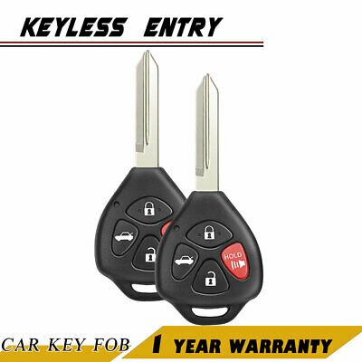2P New Replacement Keyless Entry Remote Key Fob For 07-10 Toyota Camry 4 Button