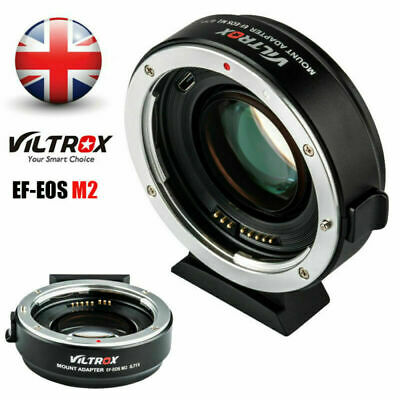 New Viltrox EF-EOS M2 Auto Focus Lens Mount Adapter 0.71X for Canon EOS EF-M