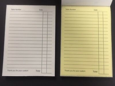 20 x A6 DUPLICATE NCR LINED RESTAURANT BAR ORDER PADS