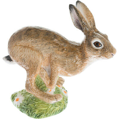 John Beswick Country Animals Hand Painted Ceramic Leaping Hare Figurine in a Box