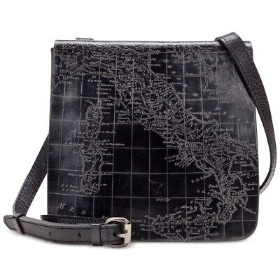 Patricia Nash Granada Bag Leather Crossbody map black Shoulder new $149