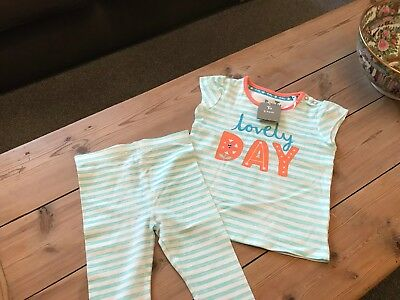 Baby Girls Brand New With Tags Two Piece Outfit Age 9-12 Months