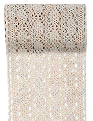 JOB LOT PARTY TABLE RUNNERS Natural / Cream Antique lace Free UK Delivery