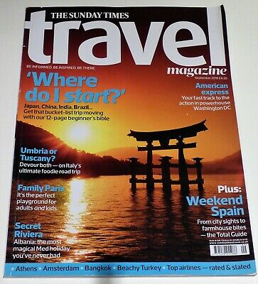 THE SUNDAY TIMES TRAVEL Magazine (September 2018) 162 pages