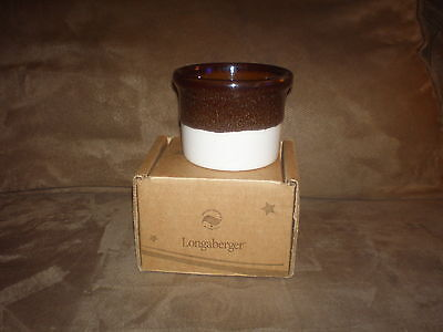 American Crafts Traditions SERVING CROCK Pot USA Longaberger New 11oz Spongeware