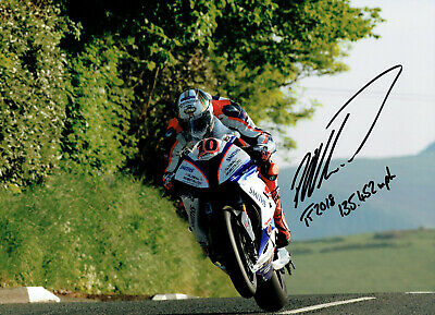 Peter Hickman 2018 Isle of Man Senior TT Winner signed 16 x 12 picture.
