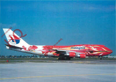 PICTURE POSTCARD:-MALAYSIAN AIRLINES (SPECIAL LIVERY) BOEING