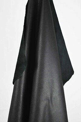 Black Italian Leather Hides 1.75m2   1.9mm thick.